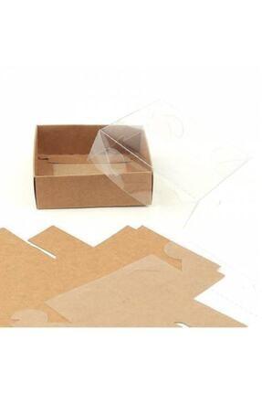 A.E Kahverengi  Asetat Kapaklı Kutu 150 Adet 8x8x3