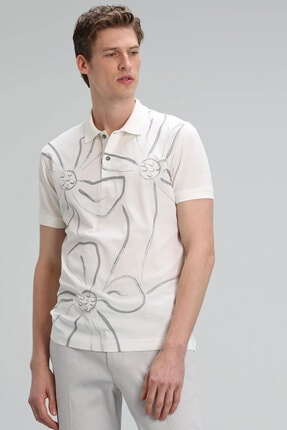 Lufian Karan Spor Polo T- Shirt Kırık Beyaz