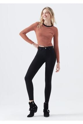 Bakmakistersen Kadın Sıkılaştırıcı Likralı Yüksek Bel Siyah Skinny Jean Pantolon