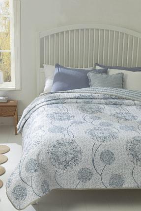 English Home Dandelion Çift Kişilik Çok Amaçlı Örtü 200x220 Cm Mavi