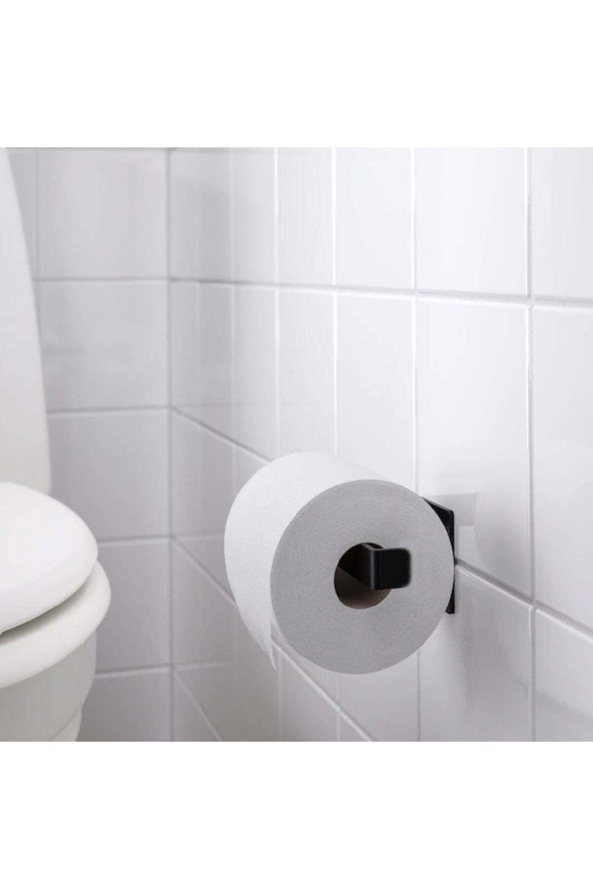 Love Gifts Skogs Çelik Tuvalet Kağıtlığı Tuvalet Kağıdı Askısı-siyah 1