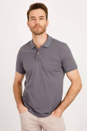 İgs Erkek Gri Modern Fit Polo Yaka T-shirt