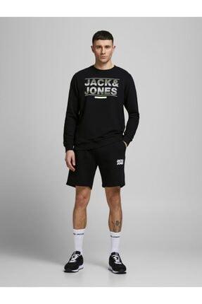 Jack & Jones Erkek Siyah Jjınewsoft Sweat Şort 12186787