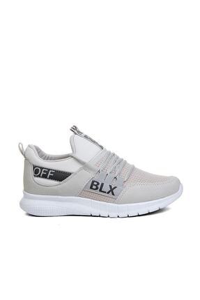 RAKKOO Unisex Füme Beyaz  Sneaker