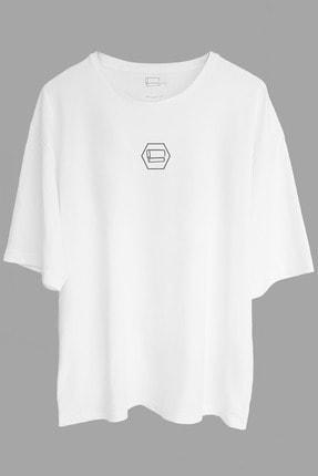 Gri Ragle Oversize Tasarım Tişört '