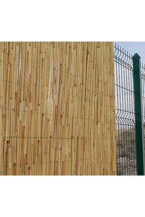 metrohasır Doğal Kamış Hasır Çit 1m X 6m Doğal Bambu -bahçe Çiti - Gölgelik Hasır -tavan Dekorasyon