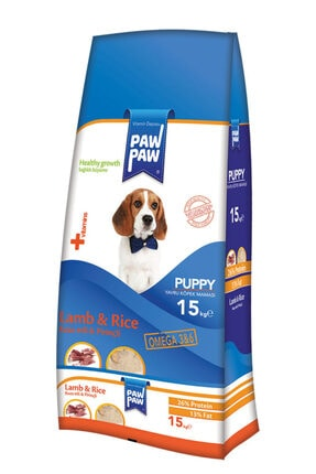 Paw Paw Puppy Kuzu Pirinçli Yavru Köpek Maması 15 kg