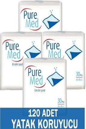 Puremed Hasta Altı Bezi Serme Yatak Koruyucu 60x90 30'lu * 4 Paket