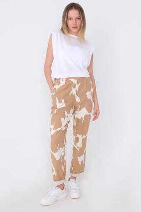 Addax Kadın Kahverengi Desenli Pantolon Pn03-0062 -