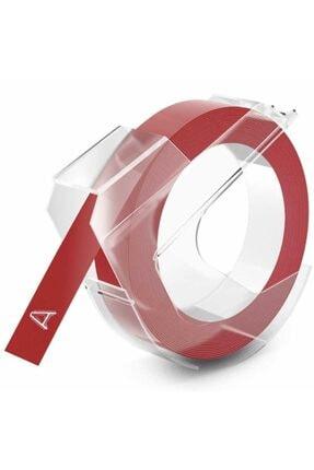 Dymo Kırmızı 3d Plastik Kabartma Yedek Şerit 9mm X 3m