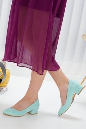 Radikal Kadın Turkuaz Süet Alex Topuklu Ayakkabı