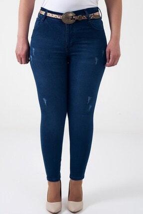 By Saygı Kadın Koyu Mavi Rodeo Yıkama En Boy Likra Kot Pantolon