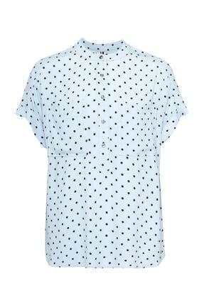 Tommy Hilfiger Kadın Mavi Gömlek Fleur Blouse Ss WW0WW24661