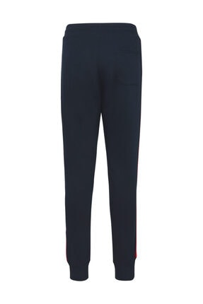 Tommy Hilfiger Erkek Mavi Eşofman Altı icon Global Stripe Sweatpants MW0MW09700