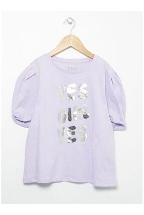 LİMON COMPANY Kız Çocuk Mor T-Shirt