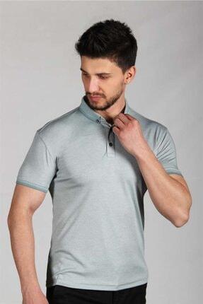 İgs Erkek Yeşil Standart Polo Yaka Tişört