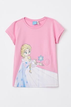 DeFacto Kız Çocuk Frozen Lisanslı Kısa Kollu Tişört