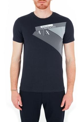 Armani Exchange Erkek Lacivert Slim Fit T-Shirt