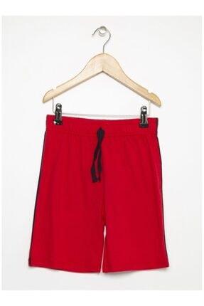 LİMON COMPANY Erkek Çocuk Kırmızı Cepli Şort