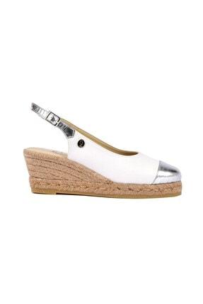 Su Espadril Kadın Beyaz Dolgu Topuk Ayakkabı