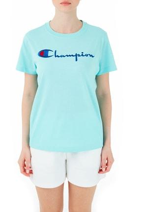 Champion Kadın Turkuaz Kısa Kollu Tshirt