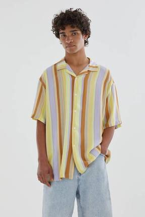 Pull & Bear Sarı Çizgili Gömlek