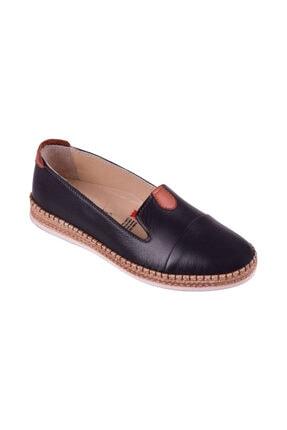 Uzman Saygıner Hakiki Deri Comfort Günlük Siyah Kadın Ayakkabı U-103