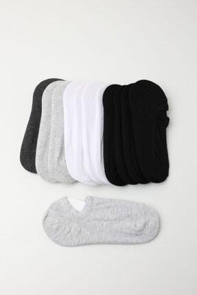 Katia&Bony Kadın Spor Çorap - Siyah /beyaz / Gri 12'li Paket