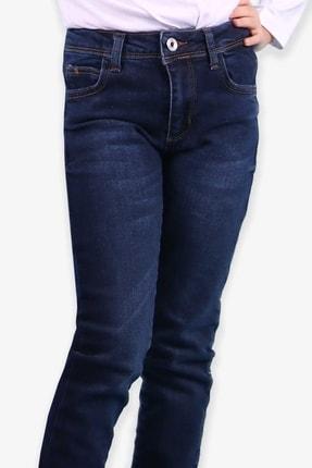 Breeze Kız Çocuk Koyu Mavi Taşlanmış  Kot Pantolon (6-12 Yaş)