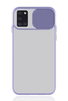 MobilCadde Samsung Galaxy A31 Uyumlu Mor Silikon Kılıf
