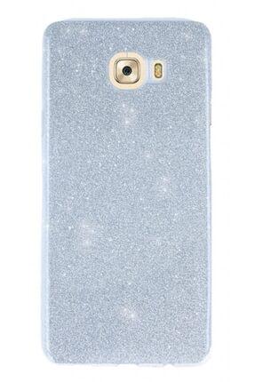 MobilCadde Samsung Galaxy C5 Simli Silver Silikon Kılıf