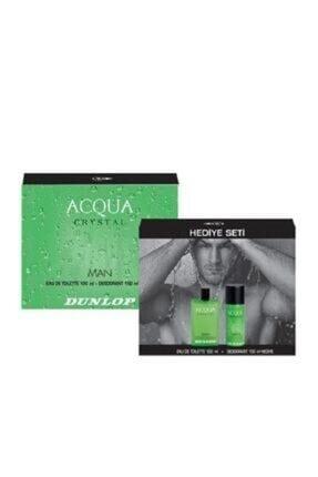 DUNLOP Erkek Acqua Crystal Edt 100 Ml + 150 ml Deodorant Parfüm Seti 8690587308808
