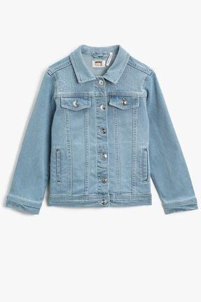 Koton Kids Kız Çocuk Orta İndigo Ceket 1YKG57145OD