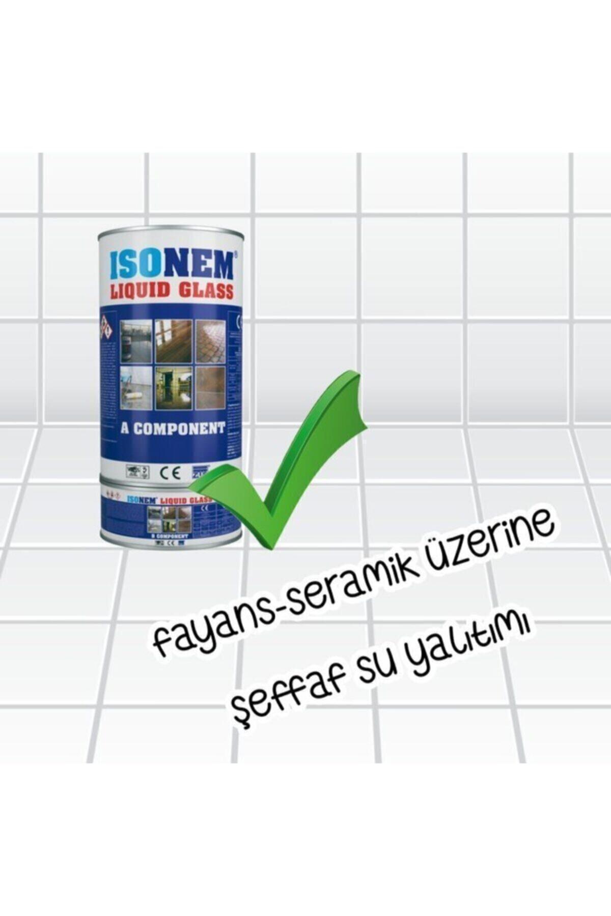 Isonem Lıquid Glass (SIVI CAM) Şeffaf Zemin Su Yalıtımı 2 Kg 2