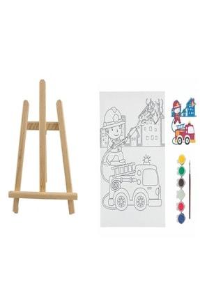 Ümraniye Hobi Sanat Mini Şövalyeli Tuval Boyama Seti 25x35 Bts18