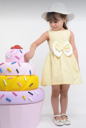Le Love Kids Kız Çocuk Elbise Şapka Takımı