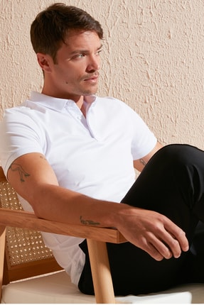 Buratti Slim Fit Pamuklu Polo T Shirt Erkek Polo 5902137