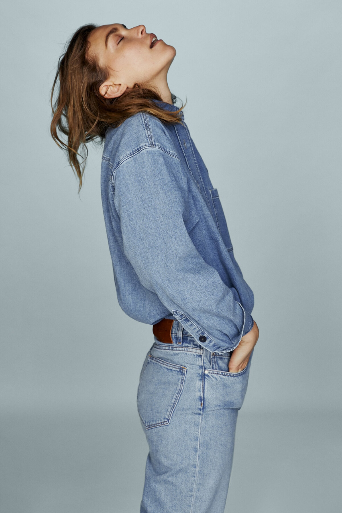 Massimo Dutti Kadın Crop Slim Fit Pantolon 05058656