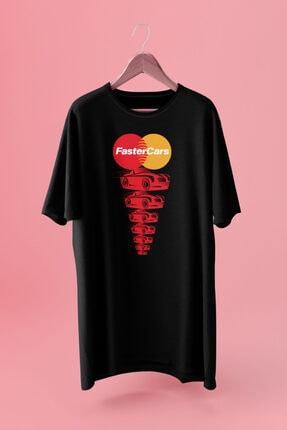 Delémont Unisex Siyah Befaster Baskılı Oversize Rahat Kesim Tasarım T-shirt