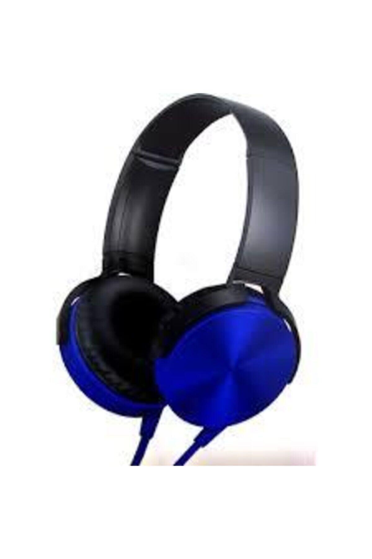 OKMORE Mavi Kafa Üstü Telefon Oyun Kulaklığı 1