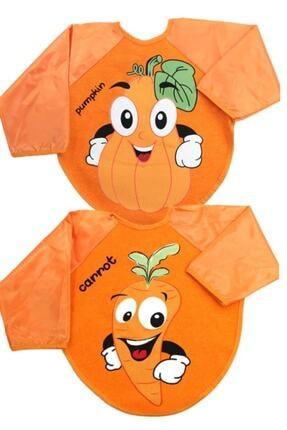 Buude Kids Belinay 2 Adet Giyilebilir , Figürlü Ve Meyve Desenli Kollu Önlük