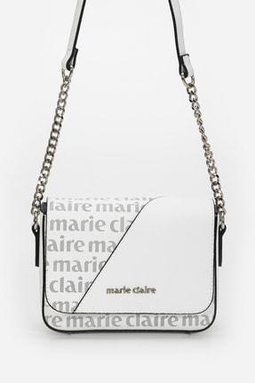 Marie Claire Beyaz Siyh Kadın Postacı Çantası Norma Mc212103232