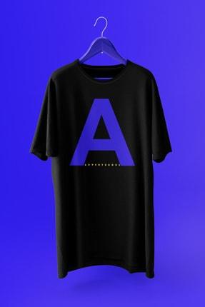 Delémont Unisex  Pamuklu Oversize Siyah T-shirt