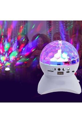 ErdemShop Renkli Işıklı Lazer Parti Malzemesi Sese Duyarlı Bluetoothlu Led Küre Disko Topu