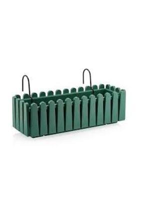 SERİNOVA Balkon Çit Saksı Askılı Yeşil 9 Lt.