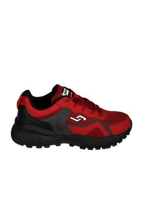 Jump Erkek Kırmızı Siyah Yürüyüş Spor Ayakkabısı