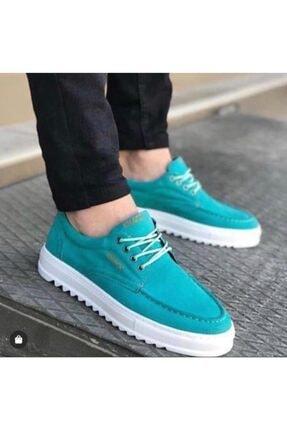 Erbilden Bağcıklı Tırtıklı Taban Mint Yeşil Spor Erkek Ayakkabı