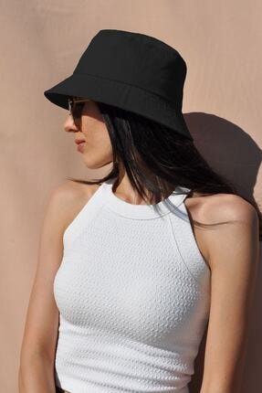 Mozto Siyah Bucket Şapka