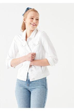 Mavi Kadın Daisy Beyaz Gold Jean Ceket 1113629204