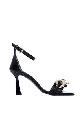 KEMAL TANCA Kadın Siyah Vegan Topuklu Ayakkabı